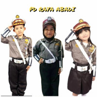 baju pocil anak sergam anak polisi cilik karnaval seragam profesi