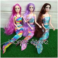 Boneka Barbie Putri Duyung Satu Pcs Rambut Panjang