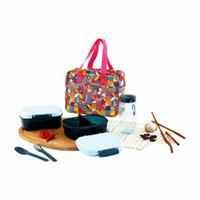 tempat bekal makanan technoplast Gift set soft lunch kit