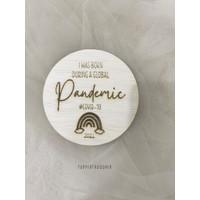 Properti Foto Baby/Bayi/Anak   Newborn announcement sign Pandemic 2021 - Cokelat Muda, READY-tanpanama