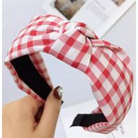 Bandana Headband Bando Kotak Kotak Import