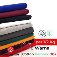 Bahan Kaos Katun Bambu Kiloan 10 Warna Cotton Bamboo per Setengah Kg
