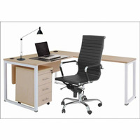 Meja Kerja/Meja Kantor bentuk L INDACHI DD.150WLL+Laci-Molek_Furniture