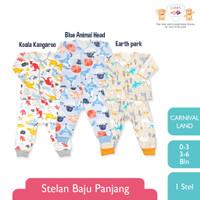 LIBBY 1 Stel Stelan Baju Panjang-Celana Panjang Newborn Carnival Land