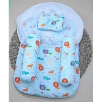 kasur bayi kelambu set baby - Biru Muda
