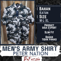 Kemeja Pria Army Slim fit Peter Nation - M
