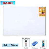 Whiteboard Gantung Magnetic - Daiki - 120x180cm