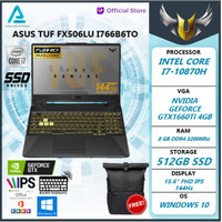 Asus TUF FX506LU|GTX1660Ti 4GB|i7 10870 8GB 512ssd W10+OHS I766B6T-O