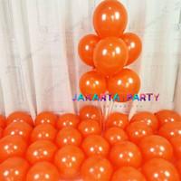 Balon Metalik Orange - Orange