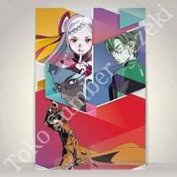 Poster Eiji Yuna Kirito Sword Art Online Ordinal Scale Paper Kanvas