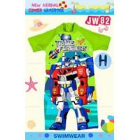 Baju Renang Anak Laki-laki Import /Swimsuit Transformer 2-7tahun