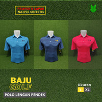 Golf baju golf kaos golf UA bahan Polyester DRY - FIT