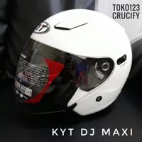 KYT DJ Maxi helm half face double visor