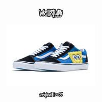 Sepatu Vans Old Skool X Spongebob Black Blue Original VN0A38G19XD