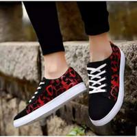 Sepatu Pria Murah Snaekers/Sport/Running/Fashion NEW ARRIVAL vans OTOY - hitam merah, 39