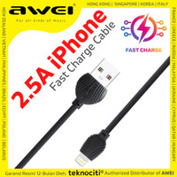 AWEI Fast Charging Cable for iPhone iPad iPod iOS 1m - Kabel Data 2.5A