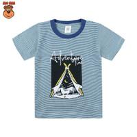 MacBear Baju Anak Laki-laki Kaos Stripe-A-Holic Collection Adventure - Biru, SIZE 5