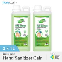 Handsanitizer 2 Liter PURELIZER Refill Spray Hand sanitizer 1L x2 pcs
