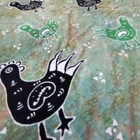 kain batik tulis antik bahan katun pria wanita motif ayam ps95
