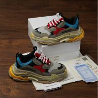 Sepatu Balenciaga Triple S Multicolor + Dustbag dan sertif - 36