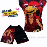 (BISA COD) celana voly baju voli Stelan baju volly kaos olahraga print - BAJU 1PM, L