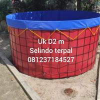 kolam terpal bulat bioflok uk Diameter 2m (jabodetabek)