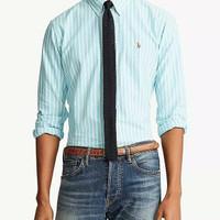 Kemeja Semi Formal Kantor Polo Ralph Lauren Oxford Shirt Original