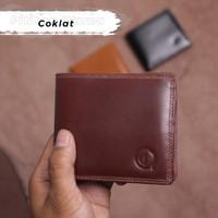 Dompet Pria Kulit SLIM Bahan Dari Kulit Sapi Asli 15 slot Card d006 - coklat tua