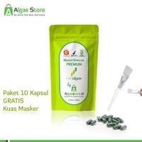 MASKER Wajah PREMIUM - Spirulina NEOALGAE - 1 pcs terjamin
