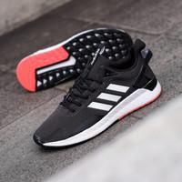 Sepatu Sneakers Casual Original ADIDAS QUESTAR RIDE BLACK WHITE ORANGE