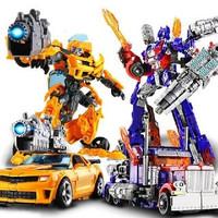 mainan robot bisa berubah mobil optimus
