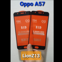 Tempered Glass Full Cover Oppo A57 5D / 9D Anti Gores Kaca - Hitam