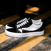 Sepatu Skate Original Vans Old Skool Wrap Black / True White