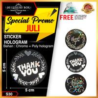 Sticker Sticker Hologram Sticker Thank You Sticker Bulat (5x5) S30 - All Variant