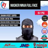 Masker Ninja Full Face Balaclava Hitam Polos