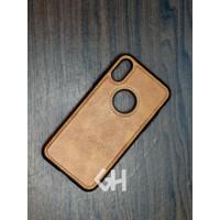 Case Casing Kulit Iphone X XR XS XS MAX 11, 12 PRO, 11, 12 PRO MAX - Cokelat, X/XS