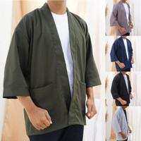 Outer Kimono Pria Umair – Baju Koko Kimono Polos