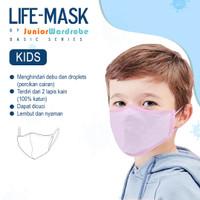 Life Mask Masker kids blue, pink, white, grey (earloop)