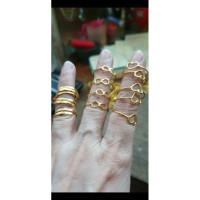 Cincin polos simple love hati infinity 99% 990 24k 24 karat emas asli