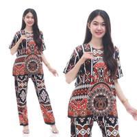 Setelan CP LARISSA Setelan Batik Piyama Batik Baju Tidur Daster Cantik