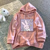 Sweater Hodie Wanita Fleece Sarangheyo / Jaket Wanita Jumbo