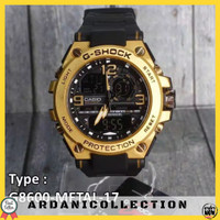 JAM TANGAN PRIA G-SHOCK GST-8600 CASIO METAL RUBBER ANTI AIR TERLARIS - METAL GOLD