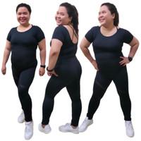 Setelan senam aerobik jumbo zumba fitness gym yoga - baju big size