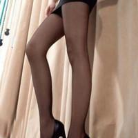 stocking hitam/black tampilan kaki jadi lebih ramping (dewasa) - Hitam