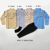 Lemaree Shop Baju Koko Anak SABLON DADA PUNDAK untuk usia 1-4 tahun