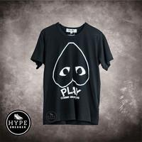 Baju CDG PLAY Heart Reverse Black Tshirt 100% ORIGINAL - M Ladies