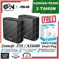 ASUS ZenWiFi AX-6600 Whole-Home Tri-Band Mesh WiFi 6 System XT8-Black