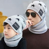 Promo Kupluk Set Dewasa & Anak Plus Syal Bulu / Topi Winter Lembut