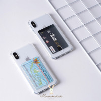 ANTICRACK POCKET SOFTCASE FULLCOVER ALL IPHONE 6 - 11 PROMAX CASING - TRANSPARAN, IPHONE 11PROMAX