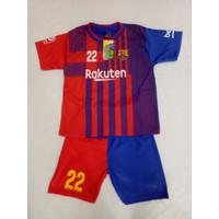 Baju Bola Anak Barca Merah Terbaru 2021/2022 / Setelan Bola Anak